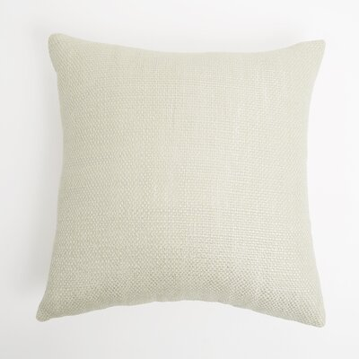 Cecilvale Weave Throw Pillow Cover Color: Cream