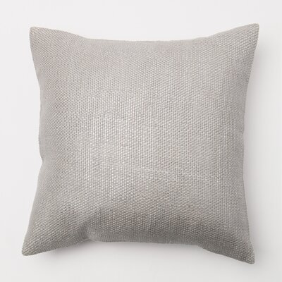 Weave Throw Pillow Cover Color: Silver