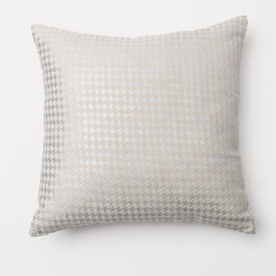 Houndstooth Throw Pillow Cover Color: Silver