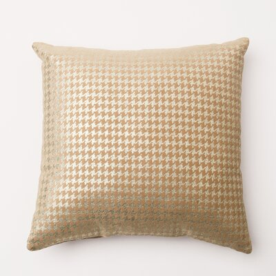 Houndstooth Throw Pillow Cover Color: Taupe