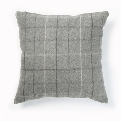 Felted Checkered Wool Blend Plaid Pillow Cover Color: Grey