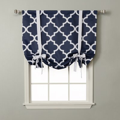 Moroccan Print Tie-Up Shade Color: Navy