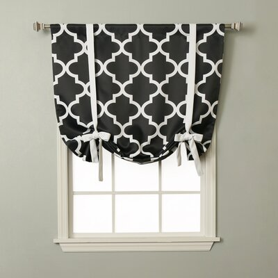 Moroccan Print Tie-Up Shade Color: Black