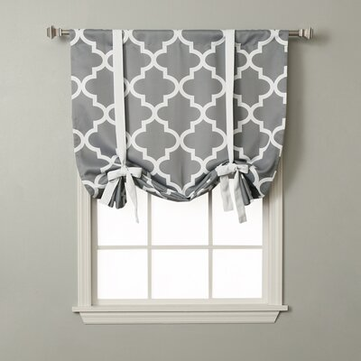 Moroccan Print Tie-Up Shade Color: Gray