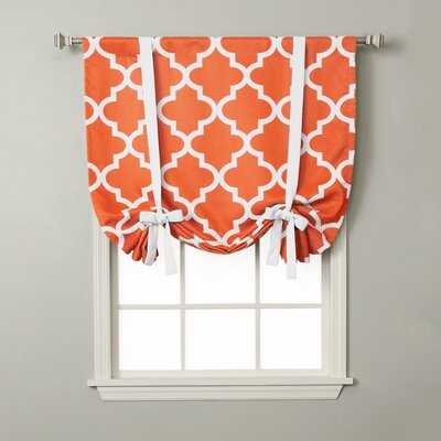Moroccan Print Tie-Up Shade Color: Orange