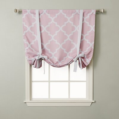 Moroccan Print Tie-Up Shade Color: Pink