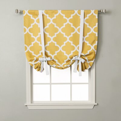 Moroccan Print Tie-Up Shade Color: Yellow