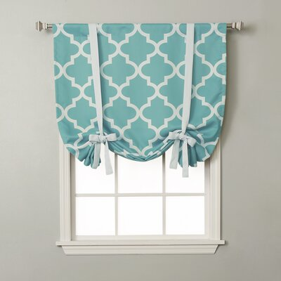 Moroccan Print Tie-Up Shade Color: Blue