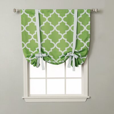 Moroccan Print Tie-Up Shade Color: Green