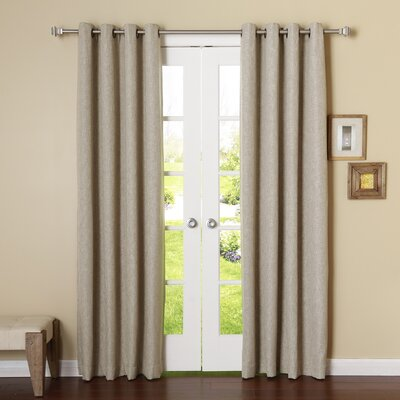 Classic Heathered Room Darkening Blackout Curtain Panels