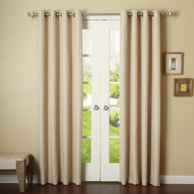 Basketweave Room Darkening Blackout Curtain Panels