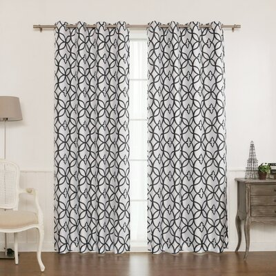 Trellis Blackout Thermal Single Curtain Panel