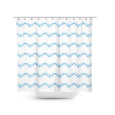 Dotted Chevron Shower Curtain