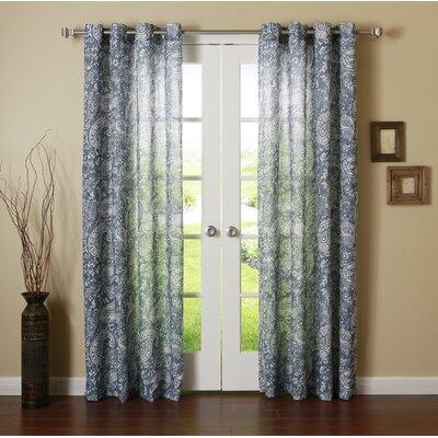 Paisley Grommet Curtain Panels