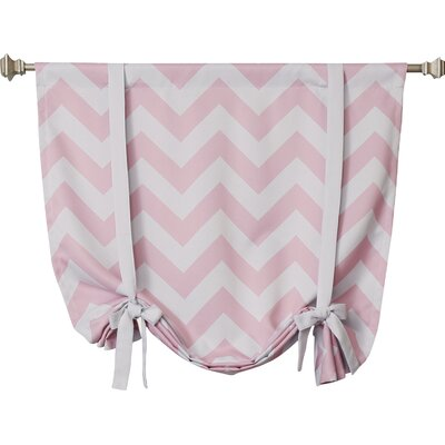 Chevron Print Tie-Up Shade Color: Pink