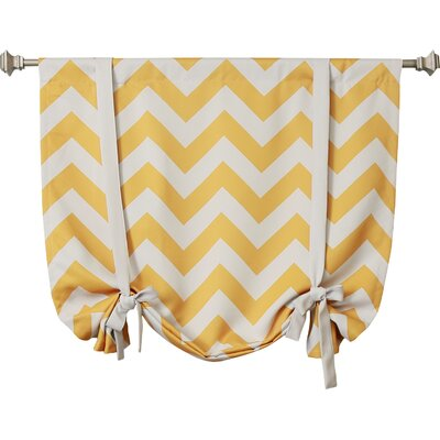 Chevron Print Tie-Up Shade Color: Yellow
