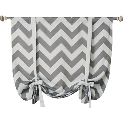 Chevron Print Tie-Up Shade Color: Grey