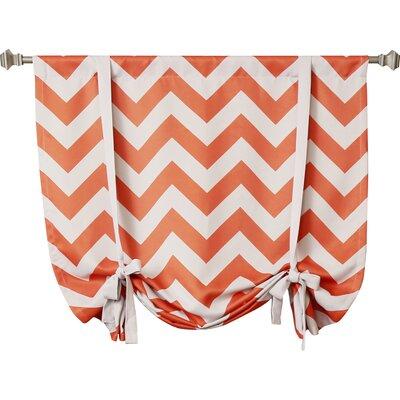 Chevron Print Tie-Up Shade Color: Orange