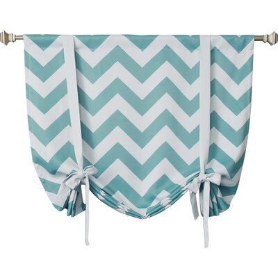 Chevron Print Tie-Up Shade Color: Blue