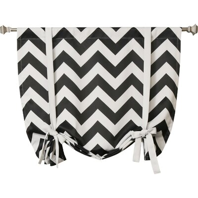 Chevron Print Tie-Up Shade Color: Black