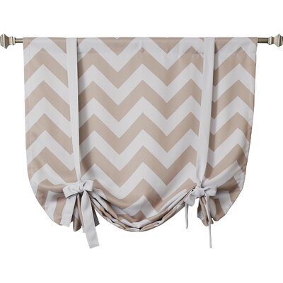 Chevron Print Tie-Up Shade Color: Beige