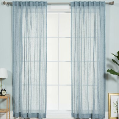 Faux Pippin Linen Rod Pocket Curtain Panels