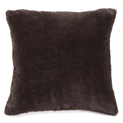Ora Faux Pillow Cover Color: Chocolate