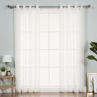 Ashley Sheer Curtain Panels Color: White