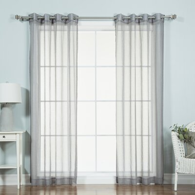 Ashley Sheer Curtain Panels Color: Gray