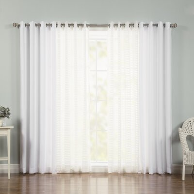 Mix & Match Cococheck Sheer Curtain Panel