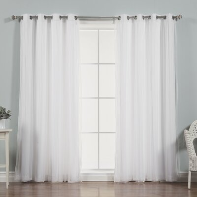 Mix & Match Tulle Sheer Curtain Panel