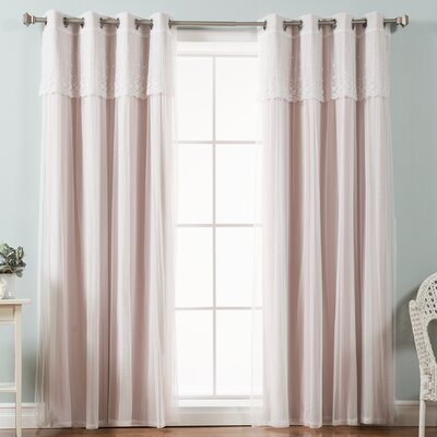 Mix & Match Tulle Sheer Blackout Curtain Panel