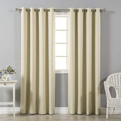 Grommet Top Insulated Blackout Thermal Curtain Panels