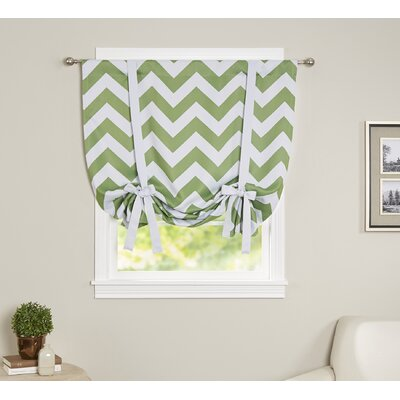 Chevron Print Tie-Up Shade Color: Green