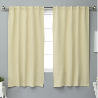 17 Stories Rebeca Solid Blackout Thermal Curtain Panels