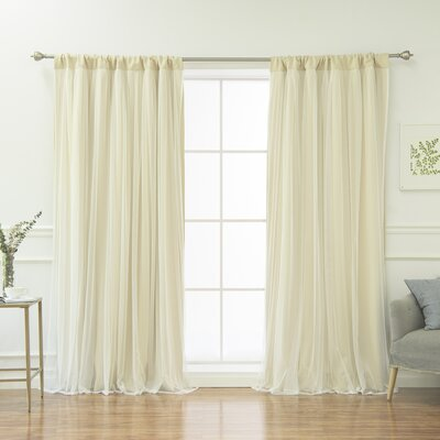 Harborcreek Curtain Solid Blackout Thermal Rod Pocket Curtain Panels