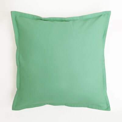 Vinci Canvas Two-Tone 100% Cotton Pillow Cover Color: Green/Blue