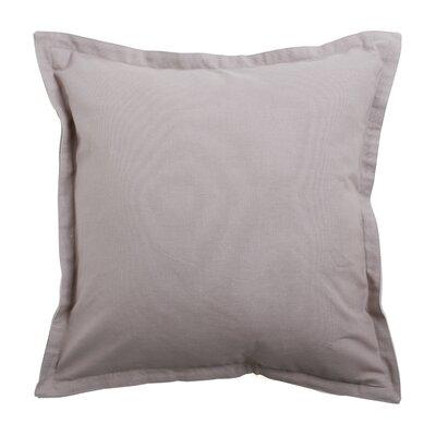 Vinci Canvas Two-Tone 100% Cotton Pillow Cover Color: Gray/Beige