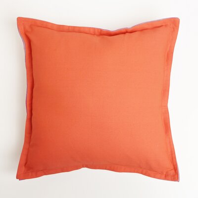 Vinci Canvas Two-Tone 100% Cotton Pillow Cover Color: Orange/Fuschia