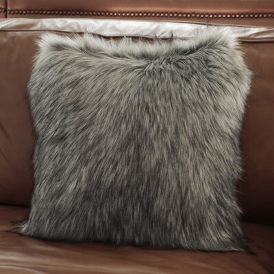 Alcide Fox Faux Fur Throw Pillow