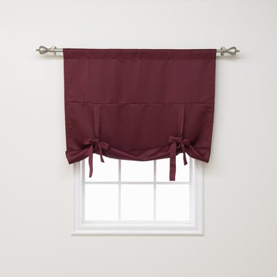 Blackout Tie-up Shade Color: Burgundy