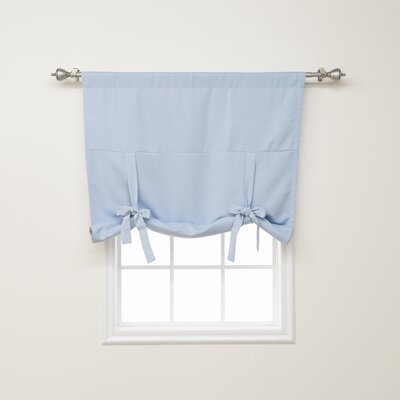 Blackout Tie-up Shade Color: Sky Blue