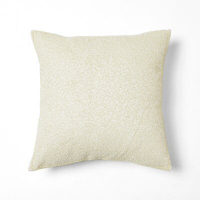 Hand Beaded Decorative Throw Pillow Cover Color: Ivory