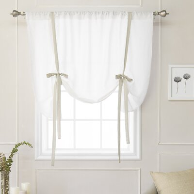 Cieslak Belgian Semi-Sheer Tie-Up Shade Color: Natural