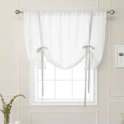 Cieslak Belgian Semi-Sheer Tie-Up Shade Color: Light Gray