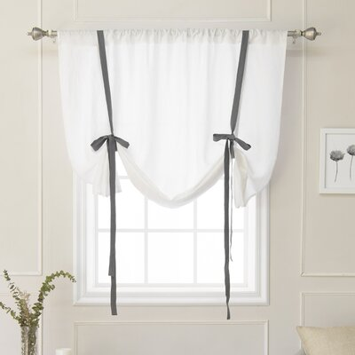 Cieslak Belgian Semi-Sheer Tie-Up Shade Color: Dark Gray