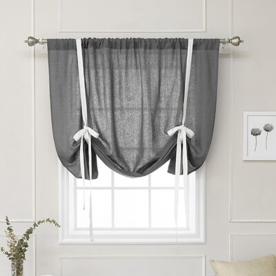 Cieslak Belgian Reverse Semi-Sheer Tie-Up Shade Color: Dark Gray