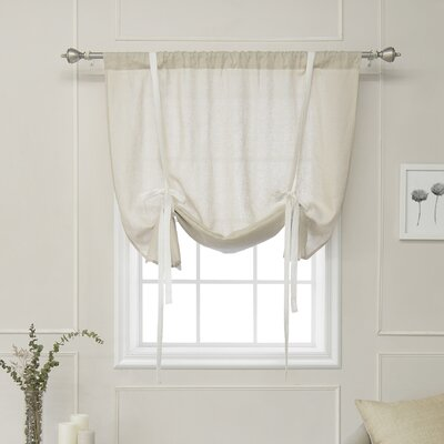 Cieslak Belgian Reverse Semi-Sheer Tie-Up Shade Color: Natural