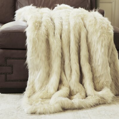 Iced Fox Faux Fur Throw Blanket Size: 58 x 84