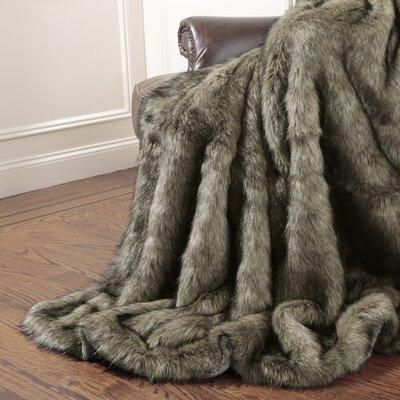 Tawny Fox Faux Fur Throw Blanket Size: 58 X 36